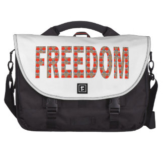Cherish your FREEDOM Blessing n RESPONSIBILITY Laptop Computer Bag