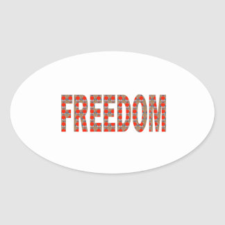 Cherish your FREEDOM: Blessing n RESPONSIBILITY Oval Stickers