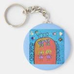 cherish your friends keychain