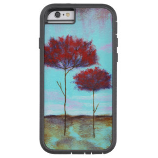 Cherished, Abstract Landscape Art, Red Trees Tough Xtreme iPhone 6 Case