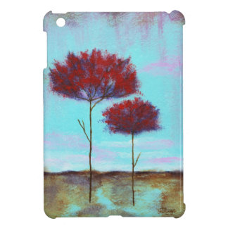 Cherished, Abstract Landscape Art, Red Trees iPad Mini Covers