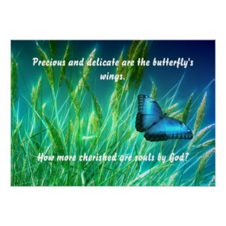 Cherished Butterfly Poster