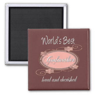 Cherished Godmother 2 Inch Square Magnet