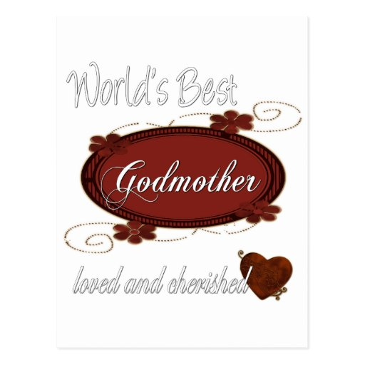 Cherished Godmother Postcard