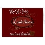Cherished Little Sister Card