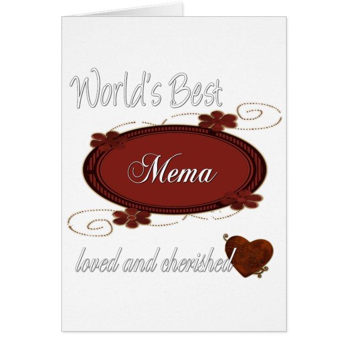 Cherished Mema Card