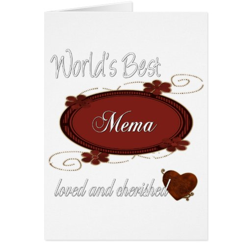 Cherished Mema Greeting Card