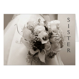 CHERISHED MEMORIES TO SIS AND HUSBAND WEDS CARD