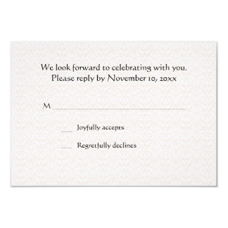 Cherished Moment RSVP Card Announcement