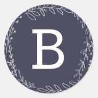 Cherished | Monogram Holiday Stickers