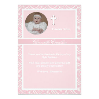 Cherished Pink Personalized Photo Thank You Card