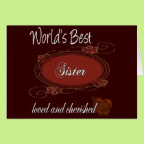 Cherished Sister Card