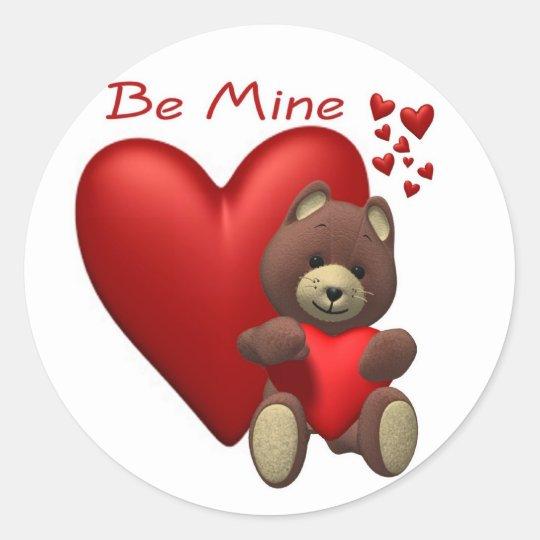 Cherished Teddy Bear Classic Round Sticker