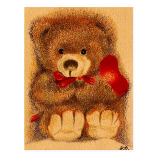 Cherished Teddy  Bear Postcard