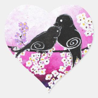 Cherished Whismy Original Art Print Heart Sticker