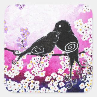 Cherished Whismy Original Art Print Square Sticker
