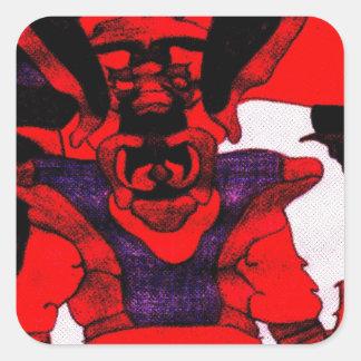 Cherloft the Enforcer Pitbull Puppy Square Stickers