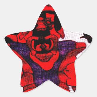 Cherloft the Enforcer Pitbull Puppy Star Sticker