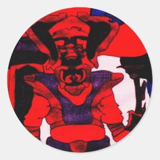 Cherloft the Enforcer Pitbull Puppy Round Sticker