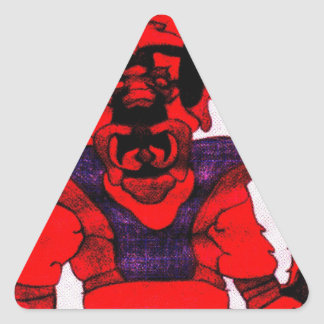 Cherloft the Enforcer Pitbull Puppy Triangle Sticker
