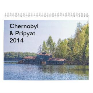 Chernóbil y calendario de Pripyat 2014