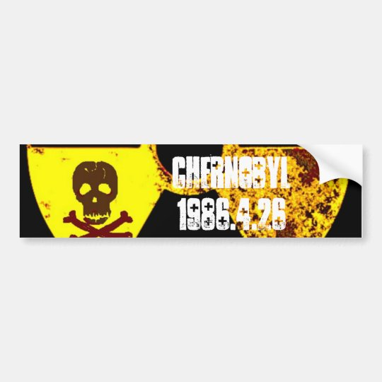 Chernobyl 25th year memorial bumper sticker