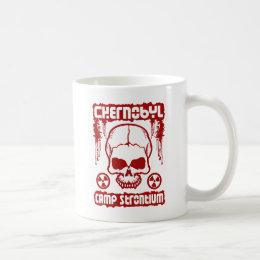 """Chernobyl """"Camp Strontium"""" Radiation Skull Mug"""