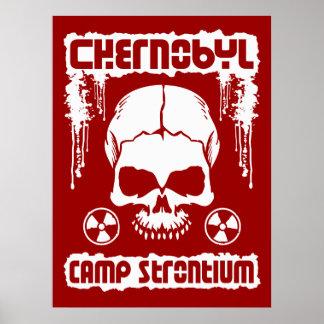 "Chernobyl ""Camp Strontium"" Skull Poster [Red]"