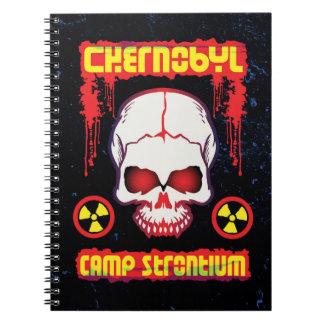 Chernobyl Glowing Radioactive Skull Spiral Notebook