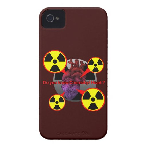 Chernobyl Heart iPhone 4 Covers
