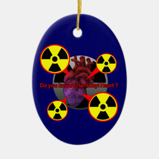 Chernobyl Heart Ceramic Ornament