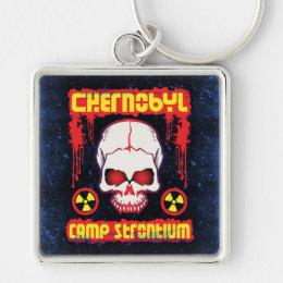 Chernobyl Radioactive Skull Keychain