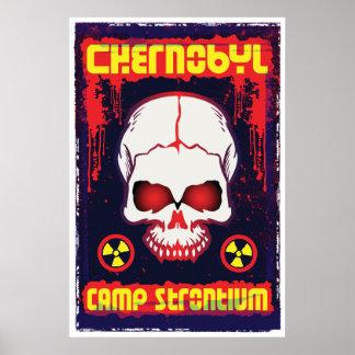 Chernobyl Skull and Radiation Symbols Poster