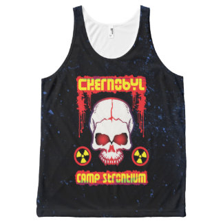 Chernobyl Skull with Glowing Eyes All-Over Print Tank Top