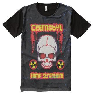 Chernobyl Strontium Grunge Skull All-Over Print T-shirt