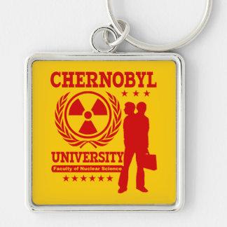 Chernobyl University Nuclear Science Geek Humor Keychain