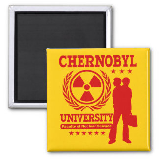 Chernobyl University Nuclear Science Geek Humor Magnets