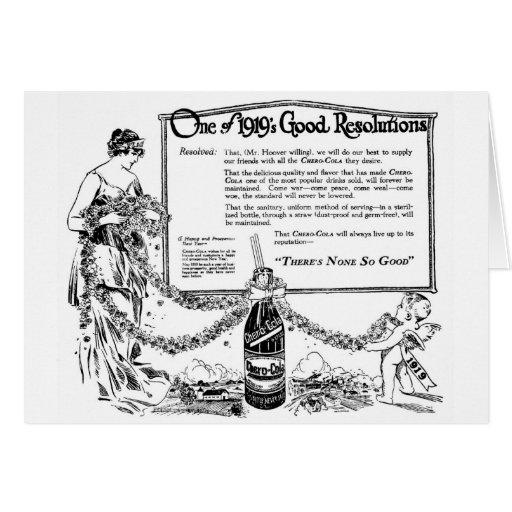 Chero Cola 1919 illustration New Year's Peace Card