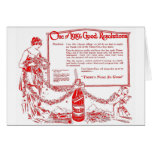 Chero Cola Red 1919 illustration New Year's Peace Greeting Card