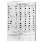 Cherokee Alphabet, Pendelton's 'Lithography' Greeting Card