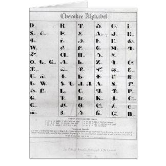Cherokee Alphabet, Pendelton's 'Lithography' Card