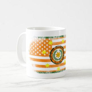 Cherokee American Flag   Cherokee and USA Design Coffee Mug