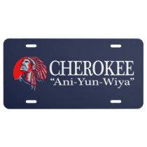 Cherokee (Aniyunwiya) License Plate