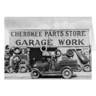Cherokee Auto Parts: 1936 Card