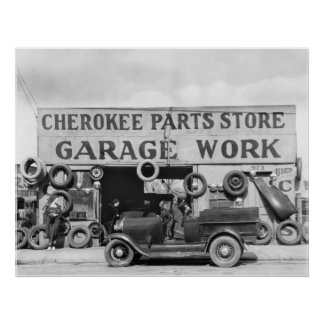 Cherokee Auto Parts: 1936 Poster