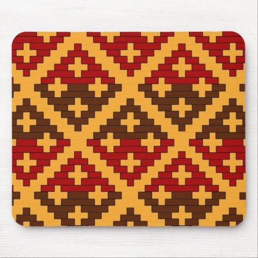Cherokee Basket Print Mouse Pad