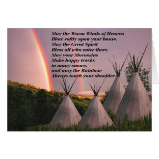 Cherokee Blessing Prayer Cards