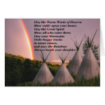 Cherokee Blessing Prayer Cards Greeting Card