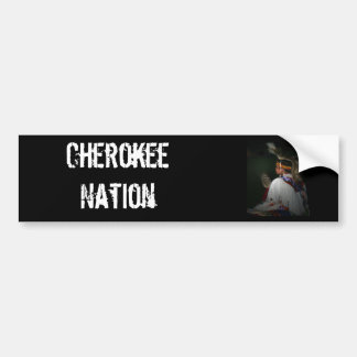 Cherokee Boy Car Bumper Sticker