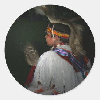 Cherokee Boy Classic Round Sticker